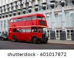 london red bus traditional old...   Shutterstock . vector #601017872