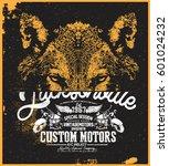 wolf t shirt graphic | Shutterstock .eps vector #601024232