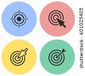 target vector icons set.... | Shutterstock .eps vector #601025405