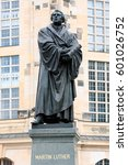 bronce statue of martin luther... | Shutterstock . vector #601026752