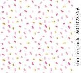 confetti festive pattern.... | Shutterstock . vector #601028756
