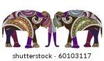 patterned elephants in ethnic... | Shutterstock .eps vector #60103117