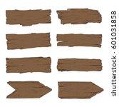 big set of old wood planks.... | Shutterstock .eps vector #601031858