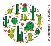 vector illustration cacti in...   Shutterstock .eps vector #601035146