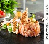 gourmet restaurant food  ...   Shutterstock . vector #601038572