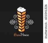 beer glass logo design... | Shutterstock .eps vector #601041326