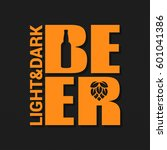 beer logo design background | Shutterstock .eps vector #601041386
