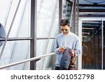 stylish indian business man... | Shutterstock . vector #601052798