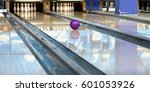 rolling bowling ball and pins... | Shutterstock . vector #601053926