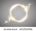 glow round frame with... | Shutterstock .eps vector #601056986