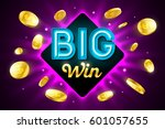 big win bright casino banner... | Shutterstock .eps vector #601057655