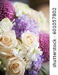 flower bouquet  | Shutterstock . vector #601057802