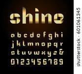 ribbon font. vector alphabet...   Shutterstock .eps vector #601061345