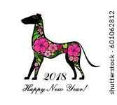 2018 happy new year greeting... | Shutterstock .eps vector #601062812