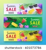 summer sale background layout... | Shutterstock .eps vector #601073786