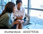 two focused young business...   Shutterstock . vector #601075526