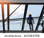 man working on the working at... | Shutterstock . vector #601081958