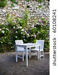 White Table And Chair With Ros...