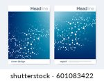 scientific brochure design... | Shutterstock .eps vector #601083422