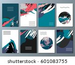 set of creative universal art... | Shutterstock .eps vector #601083755