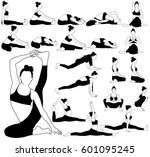 vector silhouettes of woman in... | Shutterstock .eps vector #601095245