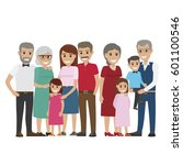 multi generation family... | Shutterstock .eps vector #601100546