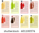 sauce bottle collection with... | Shutterstock .eps vector #601100576