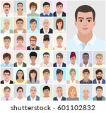 portrait men  business people ... | Shutterstock .eps vector #601102832