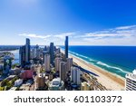 sunny view of surfers paradise... | Shutterstock . vector #601103372