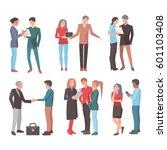 six startup teams vector... | Shutterstock .eps vector #601103408