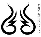 vector tribal tattoo designs.... | Shutterstock .eps vector #601104722