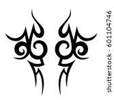 vector tribal tattoo designs.... | Shutterstock .eps vector #601104746