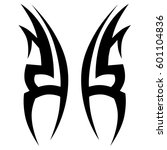 tattoo tribal vector designs.... | Shutterstock .eps vector #601104836