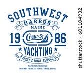 yachting sport marine... | Shutterstock .eps vector #601104932