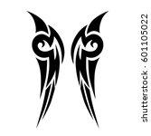 vector tribal tattoo designs.... | Shutterstock .eps vector #601105022
