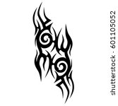 tattoo tribal vector designs.... | Shutterstock .eps vector #601105052