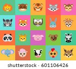 animal carnival set of animal... | Shutterstock .eps vector #601106426