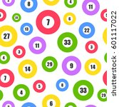 lottery seamless pattern with... | Shutterstock .eps vector #601117022