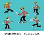 cartoon character  set bandit.  ... | Shutterstock .eps vector #601118426