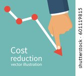 cost reduction concept. cost... | Shutterstock .eps vector #601119815