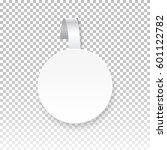 vector white round paper...   Shutterstock .eps vector #601122782