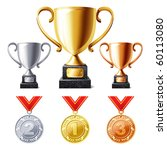 vector illustration of trophy...