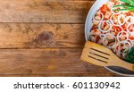 pan braised meat flavored with... | Shutterstock . vector #601130942