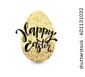 happy easter greeting card.... | Shutterstock .eps vector #601131032