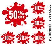 special offer splash. discount... | Shutterstock .eps vector #601133222