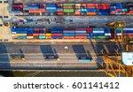 container ship in import export ... | Shutterstock . vector #601141412