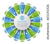 flower style infographic... | Shutterstock .eps vector #601141526
