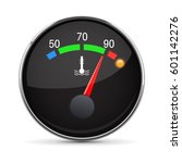 car engine temperature gauge.... | Shutterstock .eps vector #601142276
