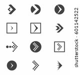 arrow icon vector set | Shutterstock .eps vector #601142522
