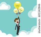 businessman getting new ideas... | Shutterstock .eps vector #601142846